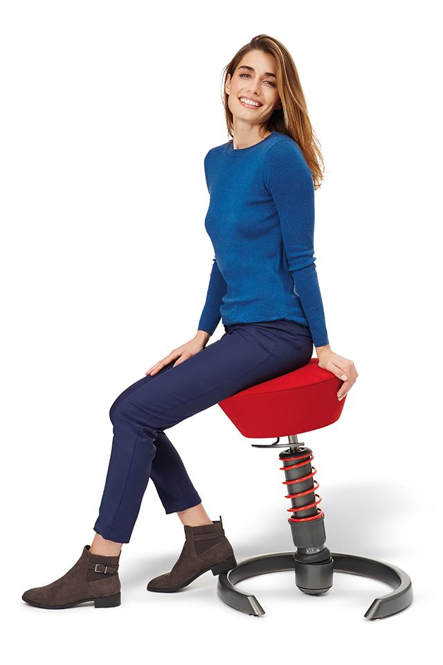 aktywne krzesło swopper - ulga dla pleców
