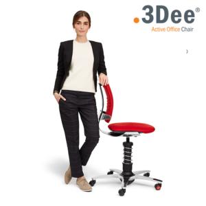 Aktywny fotel biurowy: 3Dee - Twoje zdrowe plecy w pracy