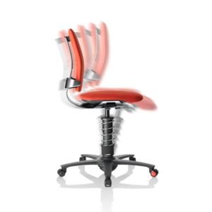 krzesło ergonomiczne - ruch do przodu i tyłu