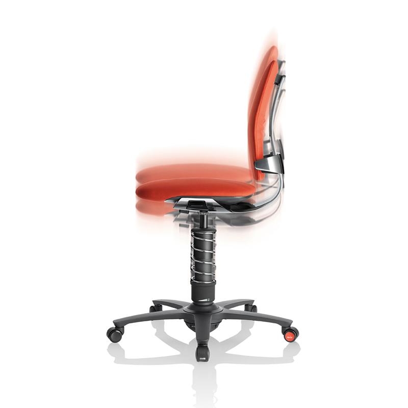 krzesło ergonomiczne - ruch w pionie