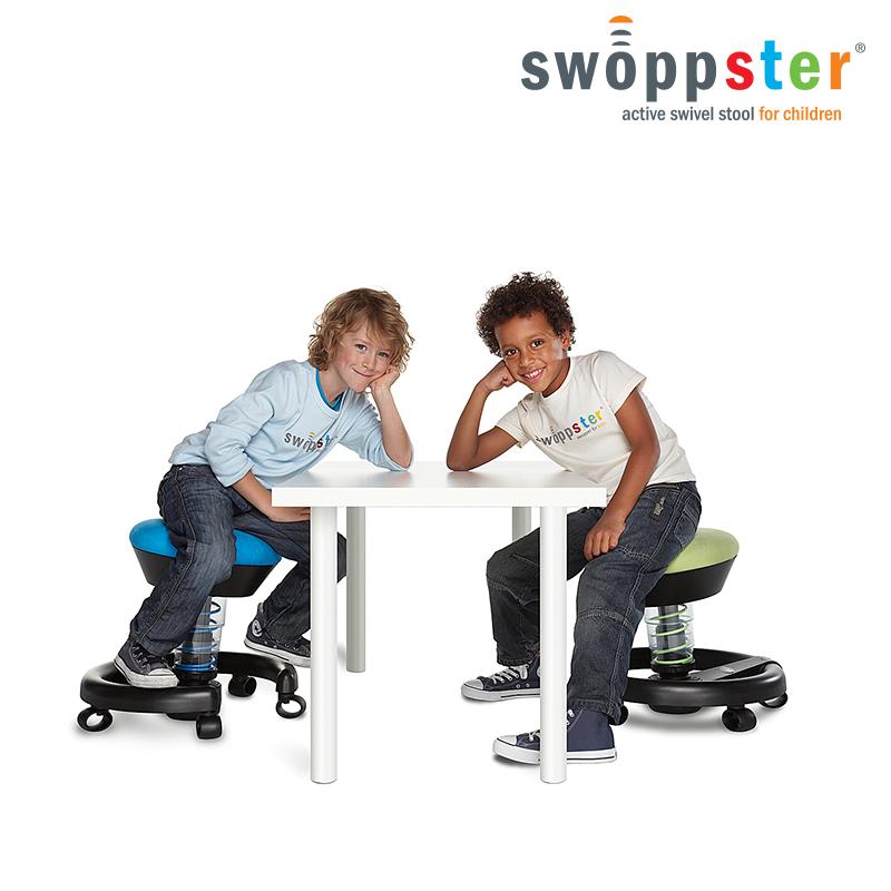Krzesło do biurka dla dziecka: swoppster - kolor zielony i niebieski