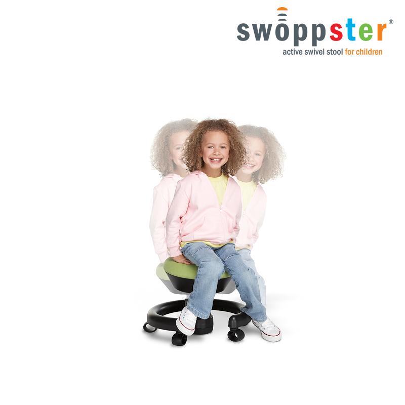 Krzesło do biurka dla dziecka: swoppster - kolor zielony