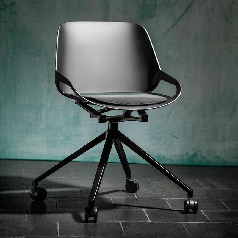 nowoczesne czarne krzesło numo