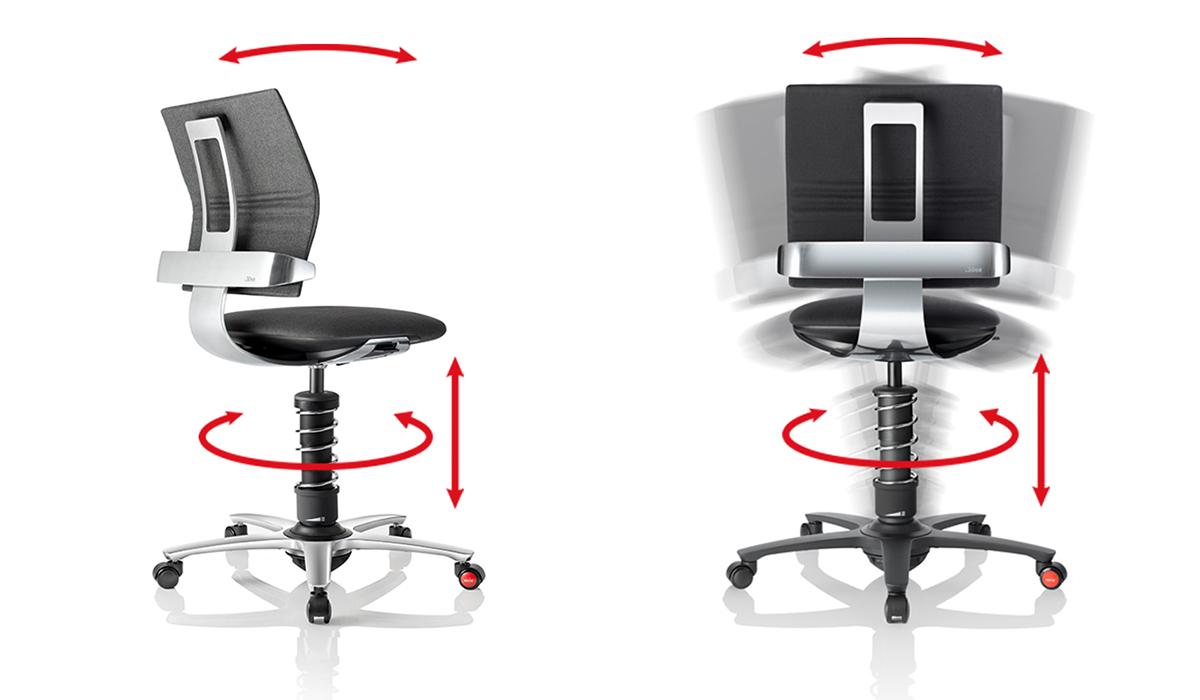 Ergonomiczny fotel 3Dee