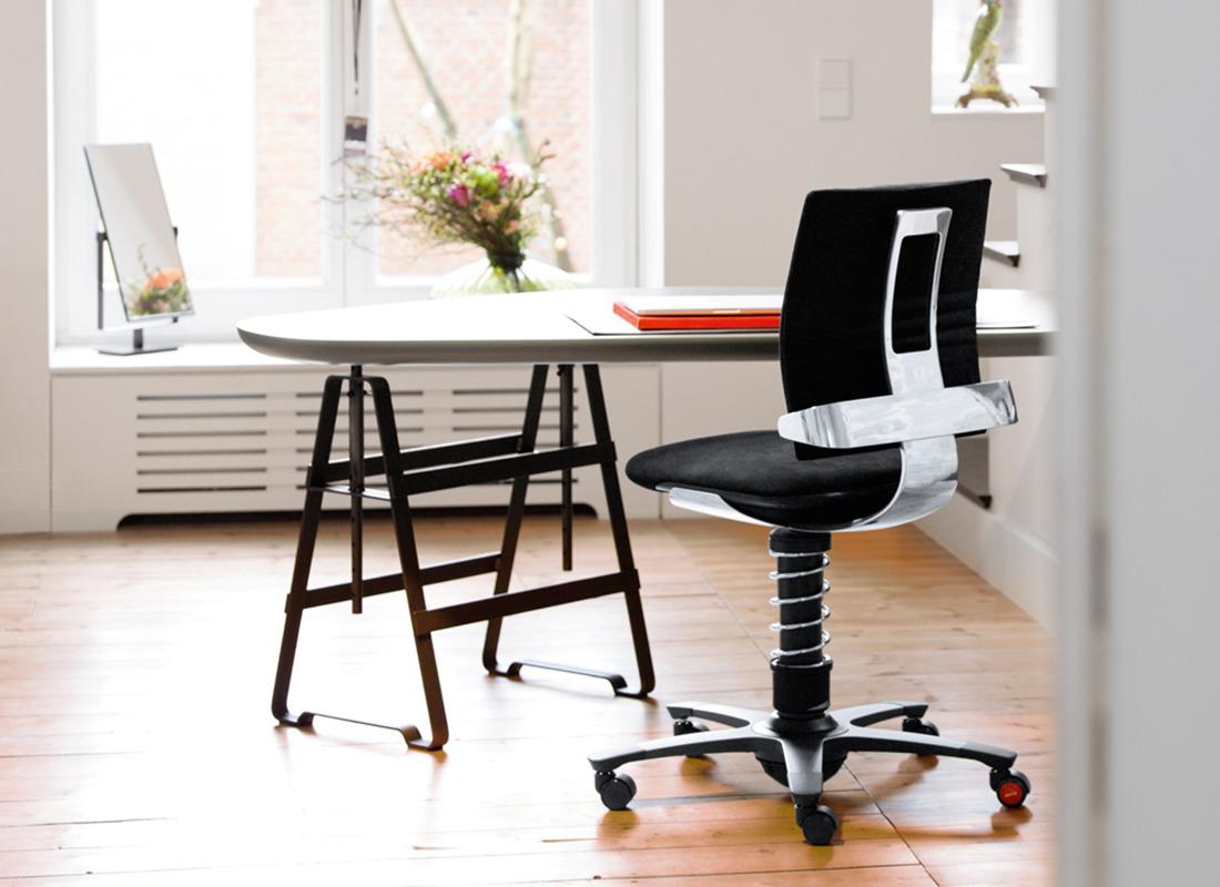 design fotel aktywny czarny