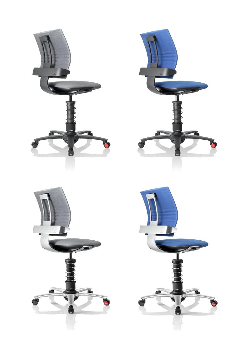 fotele biurowe 3Dee niebieskie szare