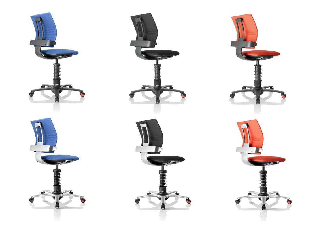fotele biurowe 3Dee niebieskie