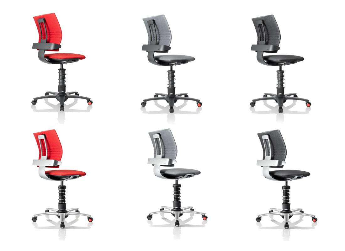 fotele biurowe 3Dee czerwone