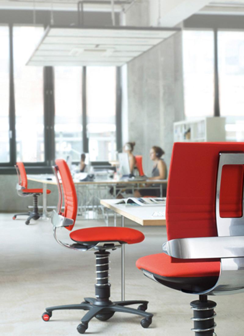 design fotel aktywny czerwony