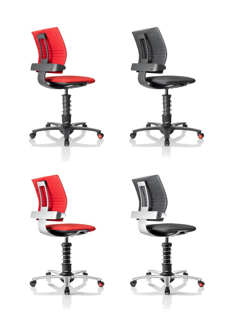 fotele biurowe 3Dee czerwone czarne