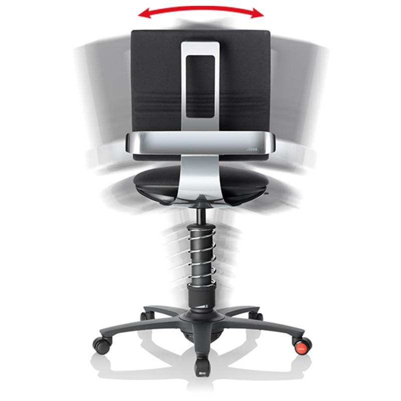 aktywny fotel 3Dee czarny